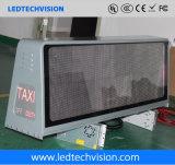 visualización de LED de la azotea del taxi de la solución 3G/4G P5mm impermeable al aire libre