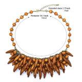 新しい方法宝石類の木製のビーズのチョークバルブのペンダントのネックレス