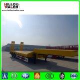 Welle Lowbed der China-Fabrik-50ton 3 halb Schlussteil mit Strichleiter für Verkauf