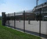 Clôture en acier de piquet de garnison industrielle noire