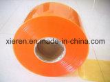 Tende costolate gialle della striscia del PVC dell'Anti-Insetto