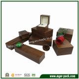 Caixa de jóia de madeira da laca lustrosa elevada luxuosa