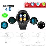 Téléphone intelligent pleine page de montre avec le moniteur du rythme cardiaque (G3)