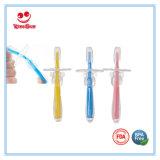 BPAはシリコーンの幼児トレーニングの歯ブラシを放す