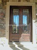 Porte d'entrée chaude d'avant de fer travaillé de ventes