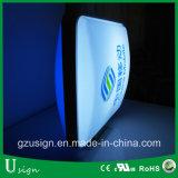 Forme ronde en forme de vide Boîte d'éclairage / Signe