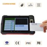 Explorador androide Handheld del código de barras de la PC RFID de la tablilla de la huella digital
