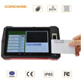 Module de balayage androïde tenu dans la main de codes barres du PC RFID de comprimé d'empreinte digitale