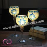 De Europese Reeks van de Gift van de Kop van de Kaars van de Houder van de Kaars van het Glas van de Bloem van de Drinkbeker Blauwe