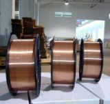 Alambre de soldadura suave revestido de cobre de MIG del alambre de la soldadura al acero Er70s-6