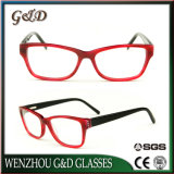 Frame van het Schouwspel van het Oogglas van Eyewear van de Acetaat van de manier het In het groot Optische Cc1715