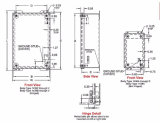덮개에 의하여 접착된 장식 못 실내 사용한 산업 전기 배선 울안이 NEMA 유형에 의하여 12 IP54 14 계기 강철을%s 가진 나사 발사된다