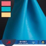 Matériau de cuir gravé en relief de PVC de configuration de Lichee pour la portée de véhicule, sofa, couverture de livre