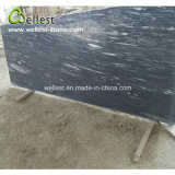 High-End Natural Blue Color Sawn-Cut Edge Marble Small Slab