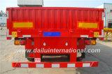 3 Semi Aanhangwagen van de Zijwand van assen de Verticale Golf Standaard met Rechte Straal
