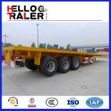 3 Radachsen 40FT Container Semi Trailer Flatbed Trailer Truck