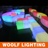 Sillas de tabla del cubo de la luz LED de la tabla de la barra de los muebles de la barra de Woolf LED