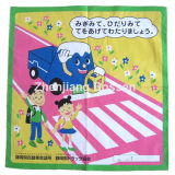 OEMの農産物は漫画のロゴによって印刷された綿ヘッド覆いのスカーフをカスタマイズした