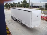 Double Van Curtain Side Semi Aanhangwagen