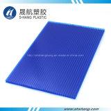 el cubrir hueco del policarbonato del color del azul de 6m m para la azotea del edificio