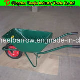 Wheelbarrow Wb4211 do revestimento do pó com a roda 3.50-7