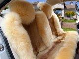 Coxim Merino confortável da tampa de assento de excitador do carro da pele de carneiro da forma