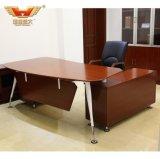 Pé de aço popular L mesa de escritório moderna da forma