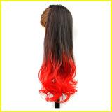 長の高品質の巻き毛の総合的な毛のレースの前部かつら