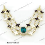 Collar nupcial de la joyería de traje de la alta calidad de la manera del zafiro al por mayor del Rhinestone