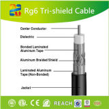 Cabo RG6 Cable/RG6 coaxial de cobre do fabricante profissional do cabo de Hangzhou