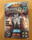 Platino 3000, píldoras del rinoceronte 7 del realce del sexo 5000mg