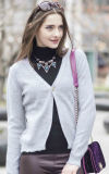 Suéter de la cachemira de la rebeca de las mujeres (1500002049)