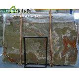 Красивейшие прозрачные зеленые слябы мрамора Onyx