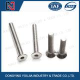 Tornillo avellanado socket de la pista del casquillo plano del hexágono del acero inoxidable DIN7991