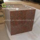 卸し売り工場によってカスタマイズされる磨かれた壁は家のためのG562かえでの赤い花こう岩をタイルを張る