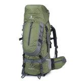 zaino d'escursione di nylon impermeabile durevole degli scalatori unisex 55L