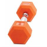 卸し売り安いカラーゴム製上塗を施してある鋳鉄のダンベル