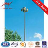 4 de secties 30m Hoge Kruk van Pool 1.2ton van de Mast met LEIDENE 15*2000W Lichten
