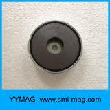 Imán de cerámica compuesto de la taza del crisol magnético de la ferrita