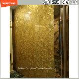 verre feuilleté de sûreté de 6mm-24mm avec le tissu/couche intercalaire en cuir avec le certificat de SGCC/Ce&CCC&ISO pour la décoration de maison et d'hôtel, le mur et les meubles