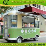 Quiosco móvil eléctrico de los alimentos de preparación rápida del carro del alimento con la máquina de cuatro ruedas