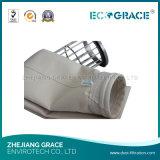Высокотемпературный упорный цедильный мешок сборника пыли ткани Nomex