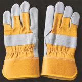 De korte Veiligheid van het Lassen Gloves de Werkende Handschoenen van het Leer van de Handschoenen van de Zweep
