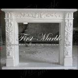 Camino bianco Mfp-142 di Carrara del camino di pietra di marmo del granito