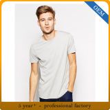 Maglietta 100% di Grey del cotone degli uomini poco costosi del cotone del commercio all'ingrosso