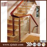 Balaustrada moderna do aço inoxidável e do vidro para a escadaria interna (SJ-H1901)