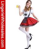Oktoberfest fantastische WegSchulter Lace-up Bier-Mädchen Cosplay Kleid-Kostüm für Frauen