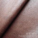 Polyester 100% de tissu de cuir de suède bronzé par impression de clinquant pour le sofa
