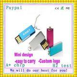 avec le mini lecteur flash USB de logo fait sur commande (GC-M663)