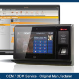 De biometrische Machine van de Opkomst van de Vingerafdruk met het Werkende Systeem van Linux OS met de Uitvoer van het Rapport van Excel